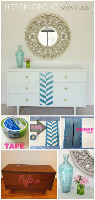 DIY Herringbone Dresser | LiveLoveDIY