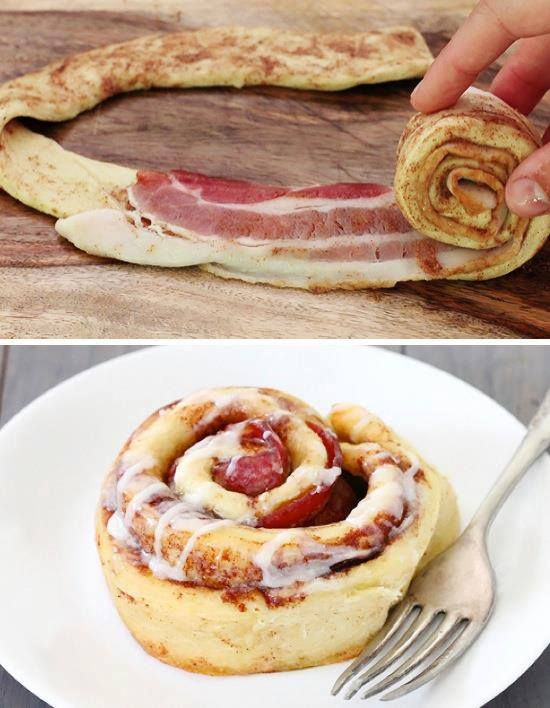 Bacon Cinnamon Rolls recipe here ==> http://lovecookeat.com/bacon ...