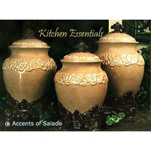 love these tuscan kitchen canisters for the home