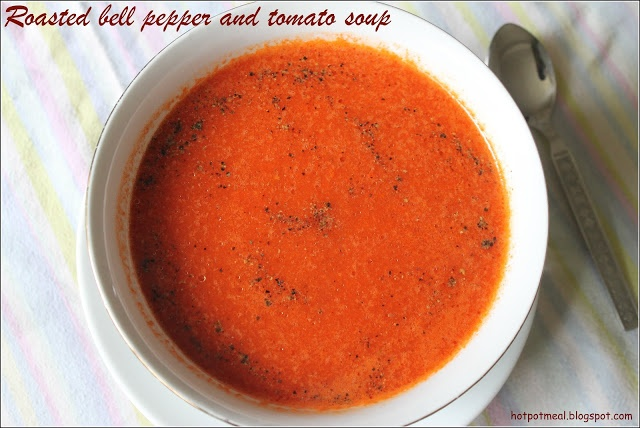 Roasted bell pepper and tomato soup | recipes to try | Pinterest
