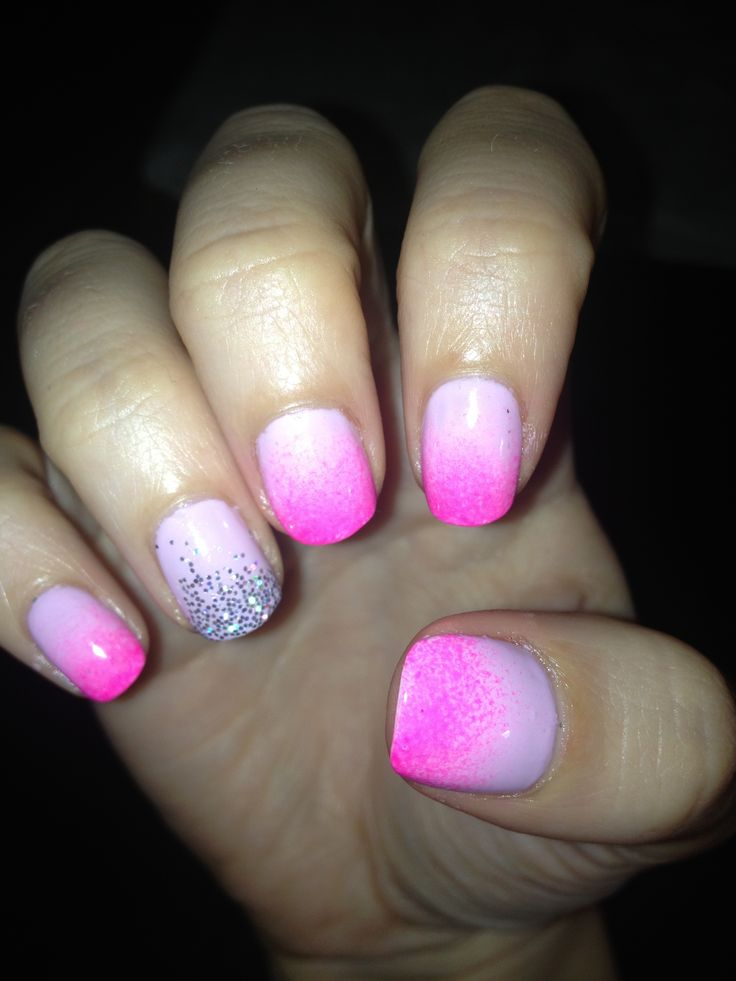 Ombré glitter shellac nails | Omg who did your nails | Pinterest