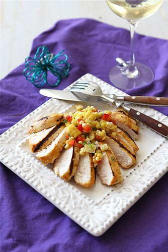 Grilled Curry & Kefir Marinated Chicken with Fresh Corn Salsa | Recipe