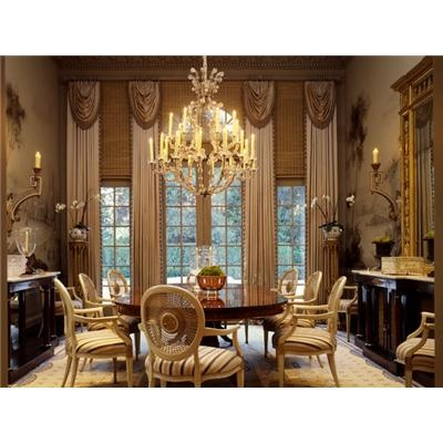 Pin by kathy tutor on window treatments pinterest for Formal dining room window treatments