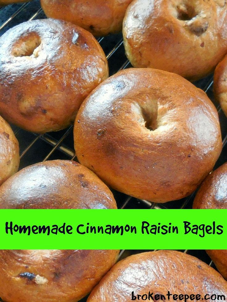 Homemade Cinnamon Raisin Bagels - Recipe | FOOD - BREAD | Pinterest