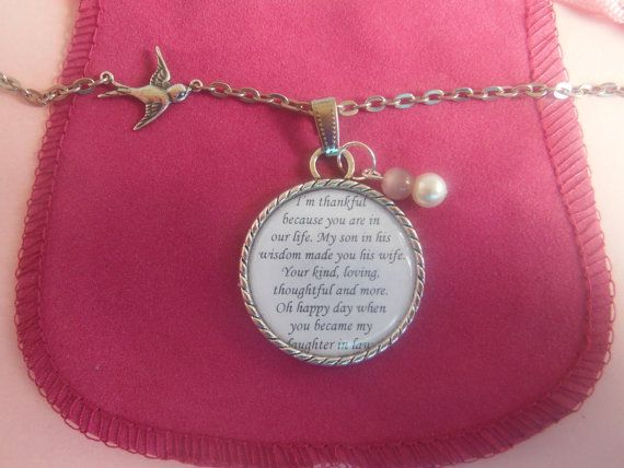 Daughter In Law Necklace Pendant Wedding Gift by TheSmileEmporium, USD23 ...
