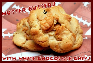 Nutter Butter White Chocolate Chip Cookies