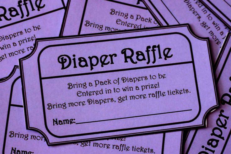 instant download purple printable baby shower diaper raffle ticket