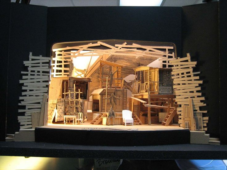 stage set model building project