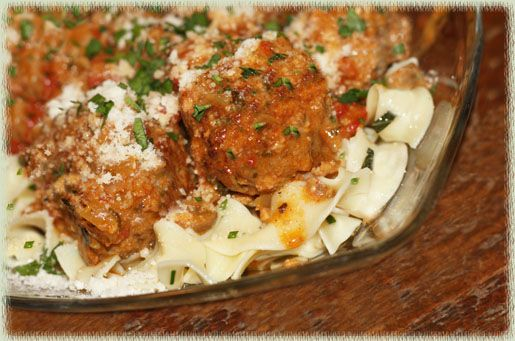 Hungarian Meatballs on egg noodles | Recipes | Pinterest