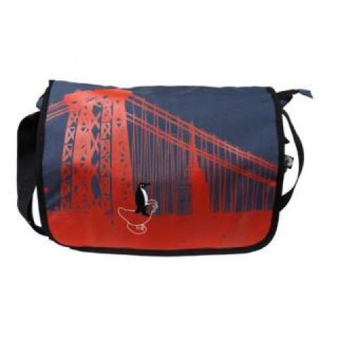 Blue Nyc Messenger Bag