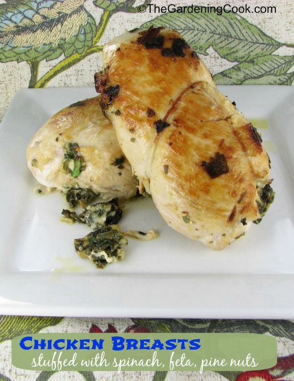 Chicken Breasts stuffed with Spinach, Feta and Pine Nuts | Recipe