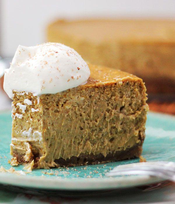 bourbon pecan pumpkin cheesecake ummm we are making this @Blair E ...