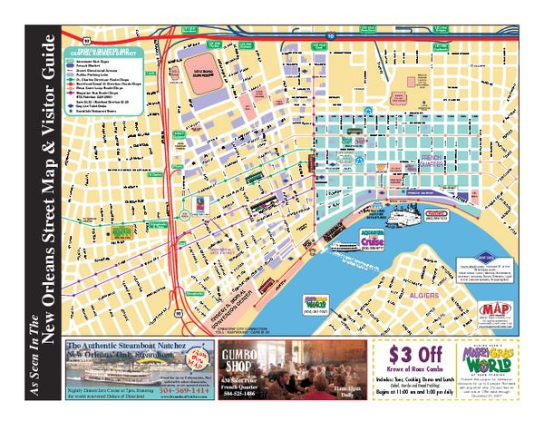 French Quarter Map With Attractions