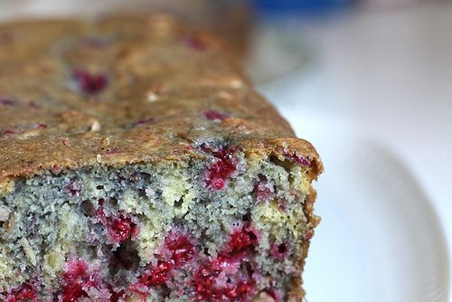 Raspberry Almond Bread by Joy the Baker. Ok so I subbed strawberries ...