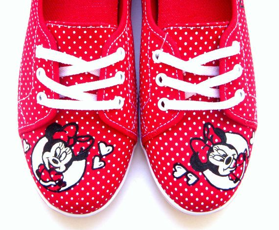 The Minnie Mouse 2 Disney Inspired Custom Painted by FruitfulFeet