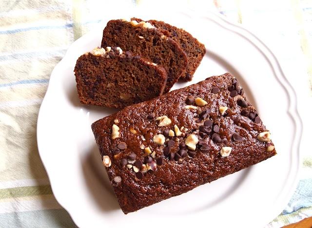 pretty kitten's kitchen: Chocolate Hazelnut Zucchini Bread