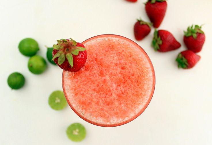 Sparkling Strawberry Limeade Recipe — Dishmaps