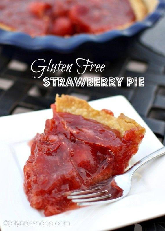 Gluten Free Strawberry Pie #glutenfree #glutenfreedesserts