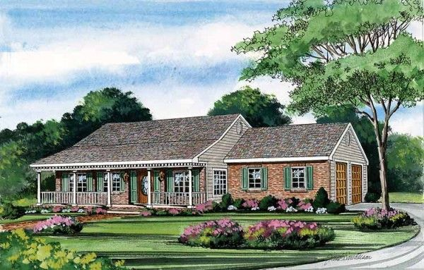 One Story House Plans With Porches House Ideas Pinterest