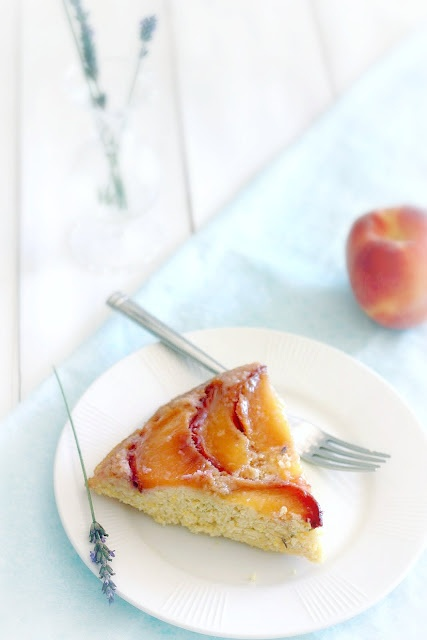 peach and cornmeal upside down cake | Fat Cake | Pinterest