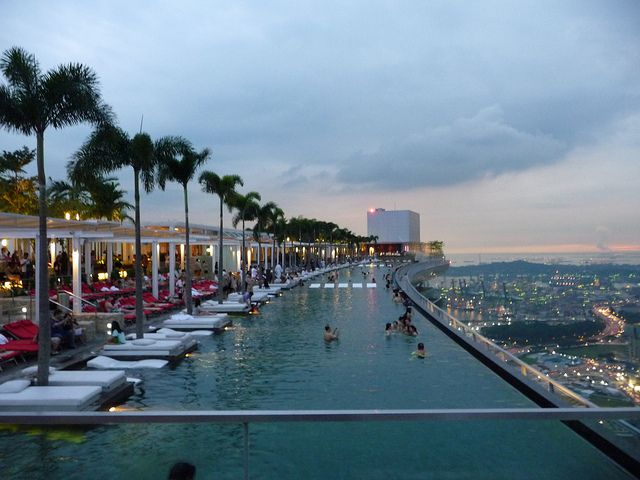 Rooftop Pool Singapore Live Life Love Pinterest