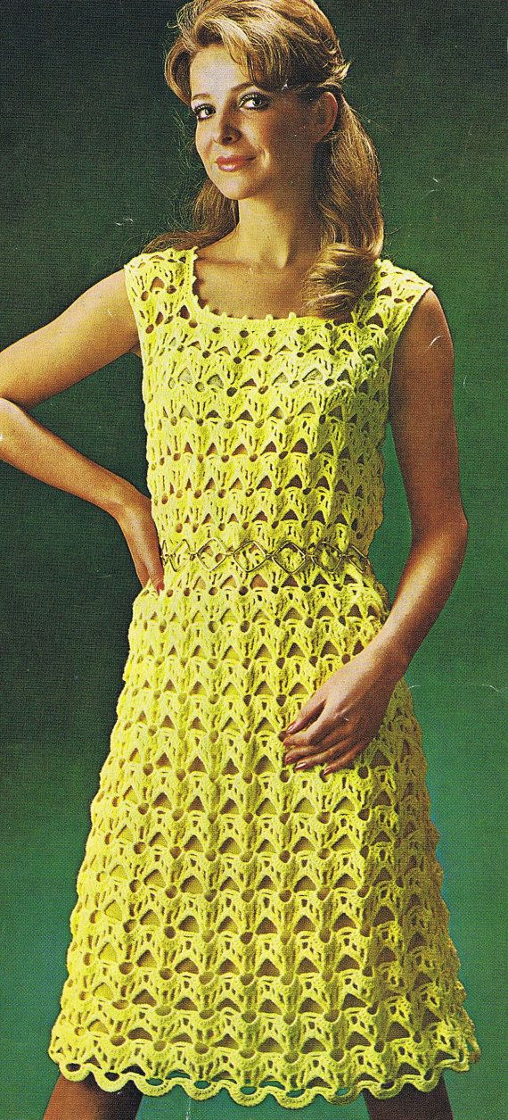 Crochet Patterns Ladies : Instant Download VKNC78 Vintage retro Crochet Ladies Dress ...