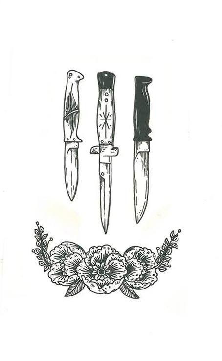Татуировки кухонных ножей
