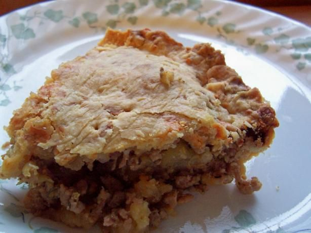Sausage and Apple Pie in a Cheddar Crust | Recipe