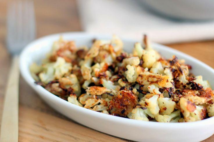 Parmesan Roasted Cauliflower | Dreamy Sidekicks | Pinterest