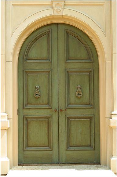 Green Front Door For The Home Pinterest