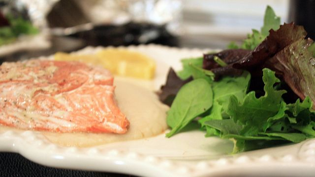 ... Essentials: Salmon Baked in Foil, White Bean Puree, & Simple Salad