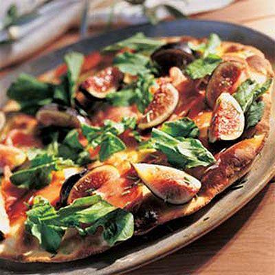 Pizza Bianca With Prosciutto And Fig Recipe — Dishmaps