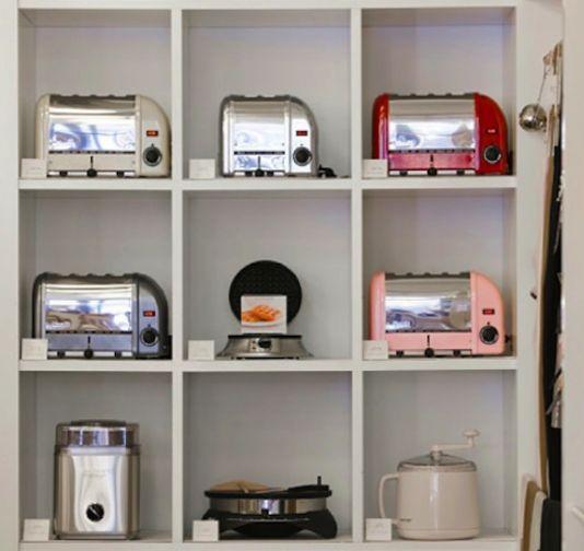 Appliance storage in kitchen kitchens pinterest for Storage ideas for small kitchen appliances