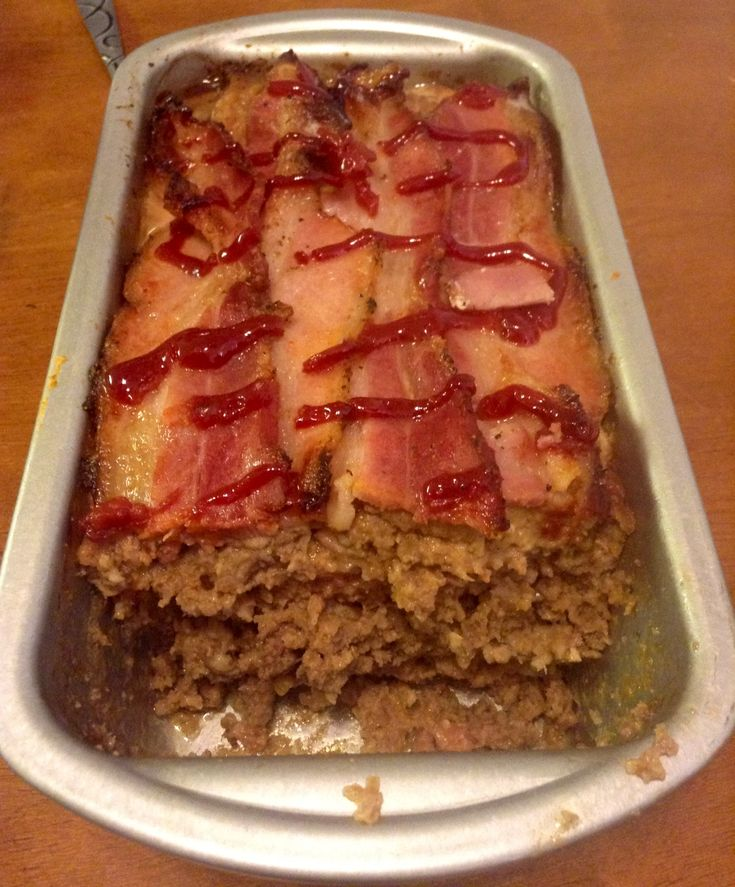 Paleo meatloaf, with way more crispier bacon thank you very much