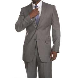 Medium grey, pinstripe suit