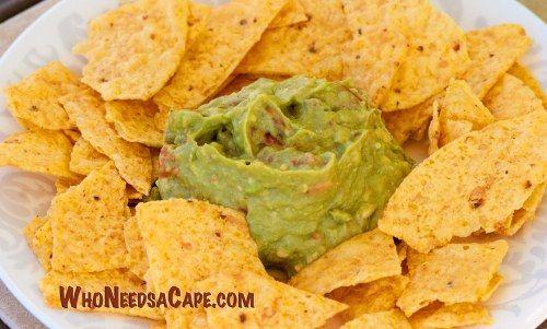 Simple Guacamole | Who Needs A Cape? #guacamole #avocado #dip # ...