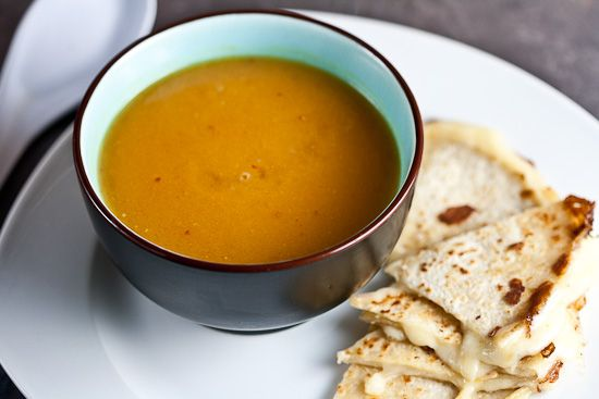 Creamy Sweet Potato and Chipotle Soup - to go with the pear, bacon ...