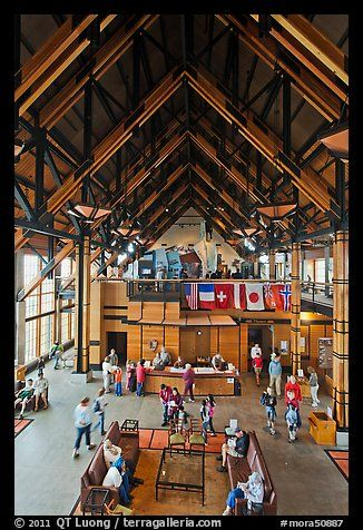 Inside Henry M Jackson Memorial Visitor Center. Mount Rainier National Park (color)