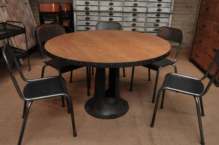 Table industrial style industrial style ideas pinterest - Table basse ronde industrielle ...