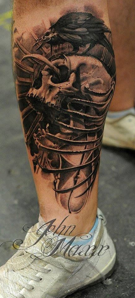 Crow and skull tattoo | Fore Jose | Pinterest