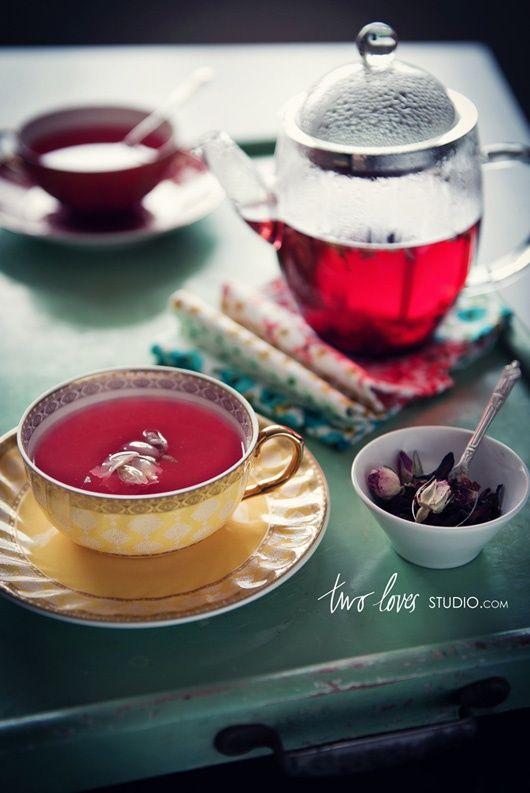 Rose petal tea | DRINKS: A Floral Palate | Pinterest