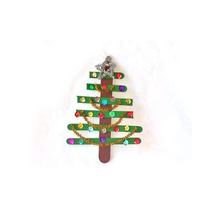 Craft stick christmas tree ornament crafts christmas for Christmas projects with popsicle sticks