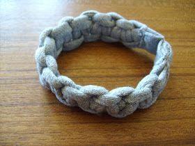 T-Shirt Scrap Macrame Bracelet
