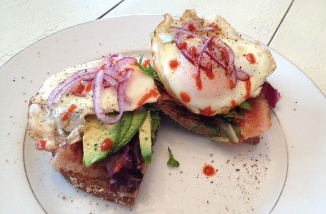 open faced avocado sandwiches | Favorite Recipes | Pinterest