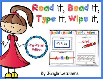 http://www.teacherspayteachers.com/Product/Read-it-Bead-it-Type-it-Wipe-it-Pre-Primer-Edition-1440272