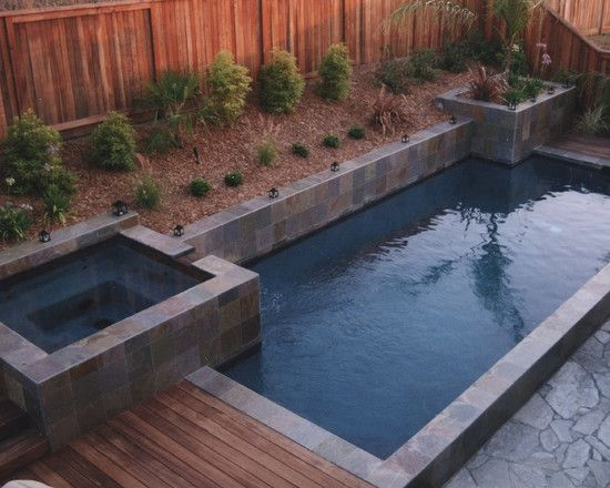 Pin by angela thomas on for the yard pinterest for Pool with jacuzzi designs