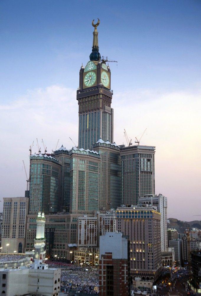 abraj al bait the makkah clock tower menara jam pinterest