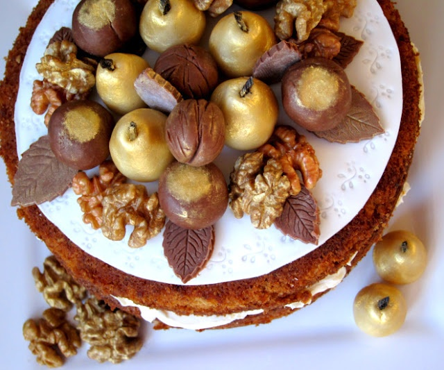 Walnut layer cake with Maple | Cakes | Pinterest