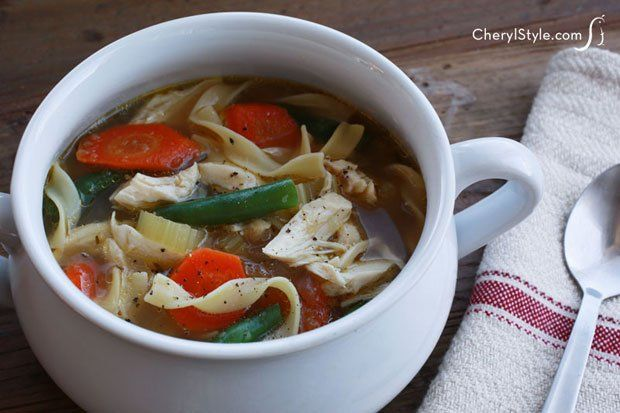 Quick and easy chicken noodle soup that doesn't need to cook all day ...
