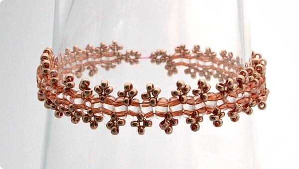 Twin bead lace bracelet / İkiz boncuk dantel bilezik